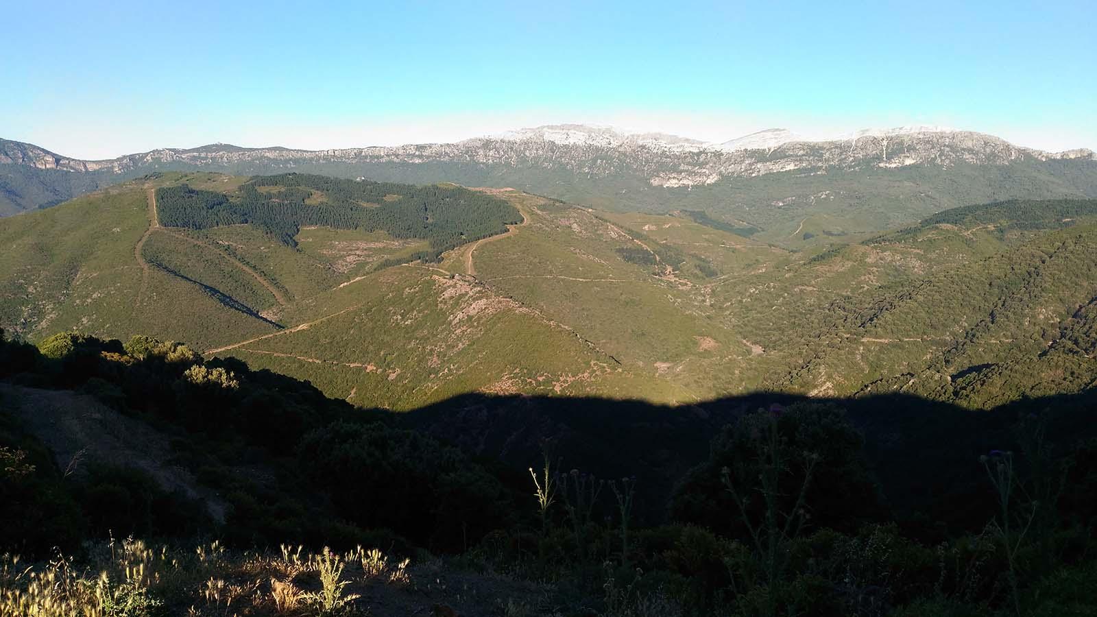 Veduta del territorio di Orgosolo, zona Fundales, Sardegna