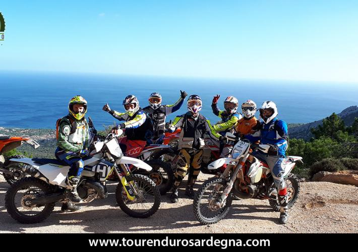 Enduro itinerary from the Barbagia mountains to the sea - Sardinia