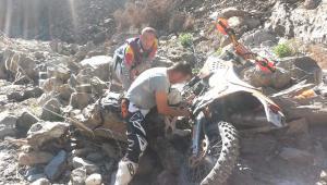 Tour Enduro in Sardegna, fiume Hard Extreme Riparazione moto