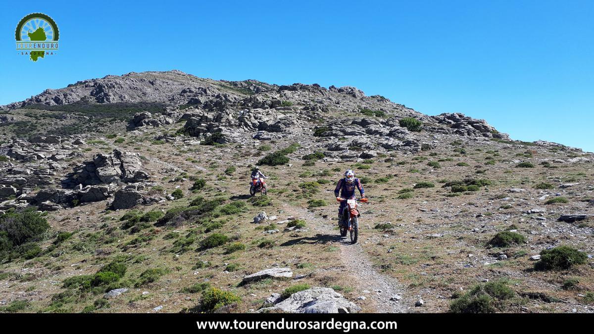 Bellissimo sentiero single track sulle creste dei monti del Gennargentu