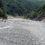 Percorso enduro sul letto del fiume ad Orgosolo, Sardegna