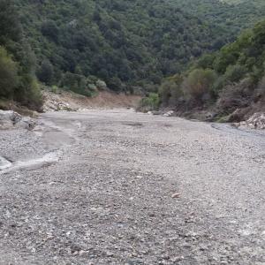 Letto del fiume nel territorio di Orgosolo