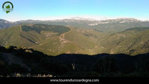 Una vista del territorio di Orgosolo, centro Sardegna, ideale per l'enduro